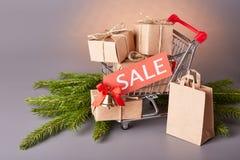 Покупки рождества и Нового Года Стоковая Фотография RF