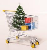 Покупки рождества семьи Стоковые Изображения RF