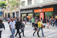 Покупки Сан-Паулу стоковое изображение rf