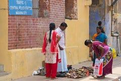Покупки тротуара на юге Индии стоковые изображения rf