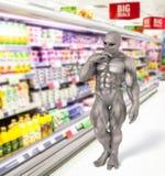 Покупки чужеземца в супермаркете Стоковая Фотография