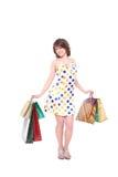 покупкы девушки счастливые Стоковая Фотография RF