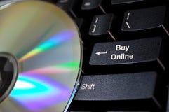 покупкы кнопки он-лайн Стоковое Изображение RF