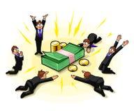 Поклонение денег иллюстрация штока