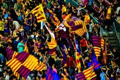 Поклонники футбола Барселоны стоковые изображения
