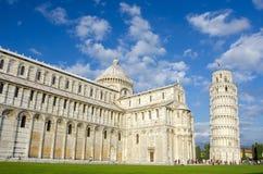 Полагаясь башня, Пиза, Италия стоковое изображение rf