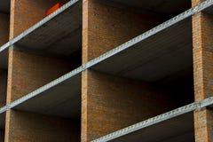 пола Часть стены незаконченного здания Стоковое Фото