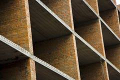 пола Часть стены незаконченного здания Стоковое фото RF