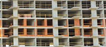 пола Часть стены незаконченного здания Стоковые Фотографии RF