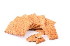 Полезные печенья с хлопьями на белизне. Стоковые Изображения RF