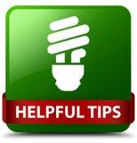 Полезные подсказки (значок шарика) зеленеют ленту квадратной кнопки красную в middl иллюстрация штока