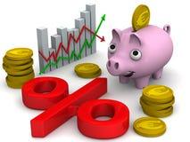 Полезный интерес с монетками евро бесплатная иллюстрация