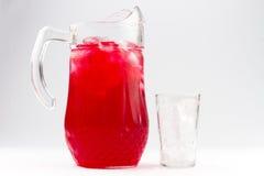 поленика кувшина холодного питья стеклянная Стоковые Изображения RF