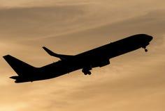 Полет захода солнца Стоковое Изображение RF