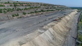 Полет над шахтой видеоматериал