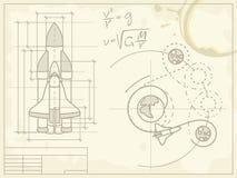 полет светокопии свой космический корабль путя Стоковые Фото