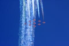 полет с выполнением фигур высшего пилотажа Стоковые Изображения RF