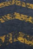 полет шеврона авиапорта заземляет метки Стоковое Фото