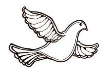 полет dove Стоковые Фотографии RF