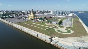 Полет Nizhniy Новгород с взглядом на стрелке видеоматериал