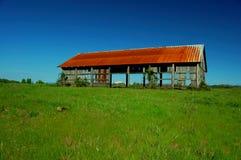поле амбара старое Стоковые Фото