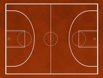 поле баскетбола Стоковое фото RF
