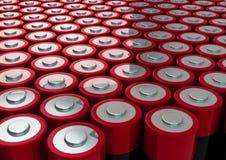 Поле батарей Стоковая Фотография RF
