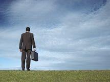 поле бизнесмена открытое Стоковое Фото