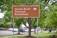 Поле брани Murfreesboro реки камней национальное Стоковое Изображение RF