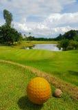 Поле для гольфа в Вьентьян, Лаосе стоковая фотография rf