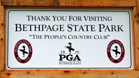 Поле для гольфа черноты Bethpage стоковые изображения