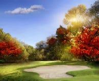 Поле для гольфа Стоковое Изображение