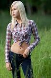 поле довольно предназначенное для подростков Стоковая Фотография