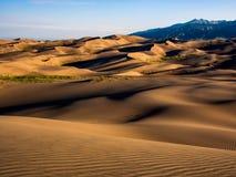 Поле дюны на заходе солнца/восходе солнца Стоковая Фотография RF