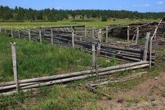 поле загородки загубило Стоковые Фото