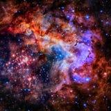 Поле и межзвёздное облако звезды в глубоком космосе стоковая фотография rf