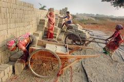 поле кирпича Индия Бенгалии западная Стоковые Изображения