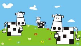 поле коров Стоковое Изображение
