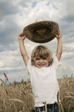поле мальчика Стоковая Фотография RF