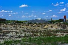Поле подготовлено для противозаконного янтарного минирования в Zhytomyr стоковые фото