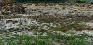 Поле подготовлено для противозаконного янтарного минирования в Zhytomyr стоковое изображение