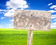 Поле с signboard Стоковые Фото