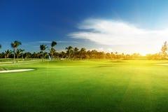 Поле для гольфа Стоковая Фотография