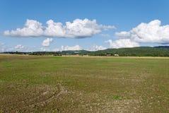 поле cloudscape пустое Стоковое Фото