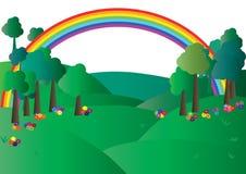 поле eps цветет ландшафт напольный иллюстрация штока