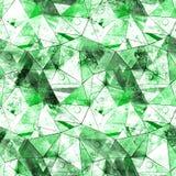 Полигональная безшовная картина Стоковые Изображения