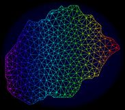 Полигональная карта вектора сетки спектра туши острова Alegranza иллюстрация штока