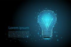 Полигональная электрическая лампочка бесплатная иллюстрация
