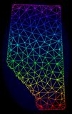 Полигональная 2D карта вектора сетки радуги провинции Альберты иллюстрация вектора