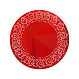 Полигональное frame-13 иллюстрация штока